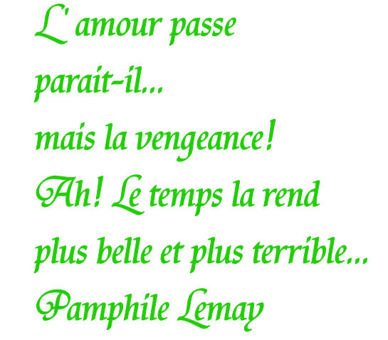 Citation sur la vengeance...