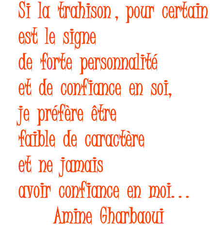 Citation sur la trahison...