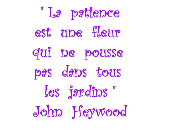 Citation Sur La Patience